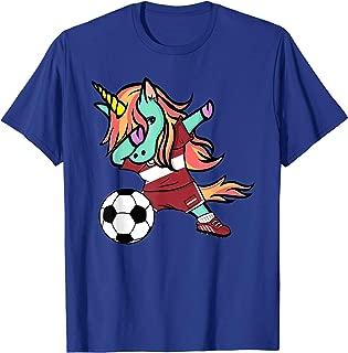 Unicorn Dabbing Latvia Soccer Jersey Latvian Football Shirt
