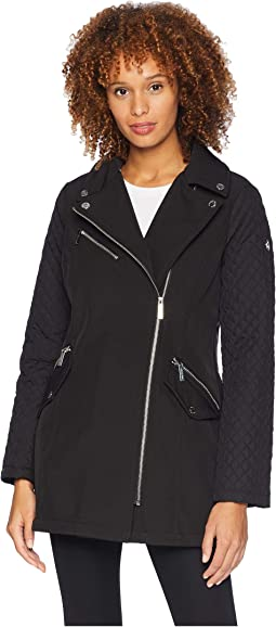 Asymmetric Zip Front Softshell M523496GZ