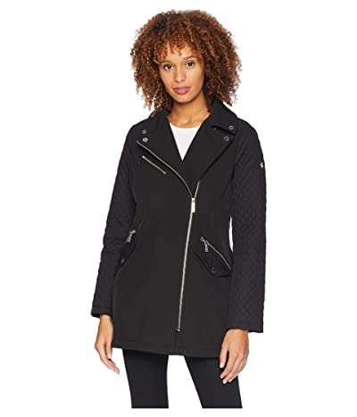 MICHAEL Michael Kors Asymmetric Zip Front Softshell M523496GZ (Black) Women