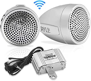 Pyle 300 Watt Weatherproof Motorcycle Speaker and Amplifier System w/Two 2.25 Inch Waterproof Speakers, AUX IN- Handlebar ...