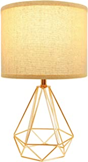 Hong-in Modern Gold Table Lamps Geometric Hollowed Out Base, 15.2