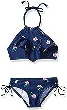 Kanu Surf Girls' Morgan Ruffle Halter Bikini 2-Piece Swimsuit, Pink, 2t
