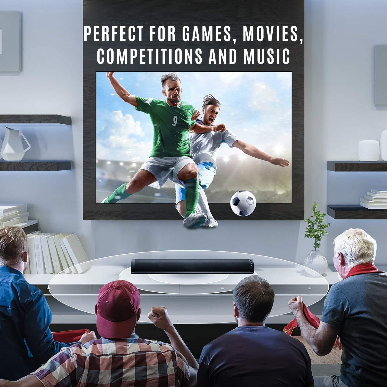 Barras de Sonido para TV, Nueva Bluetooth 5.0, Profesional Sonido ...