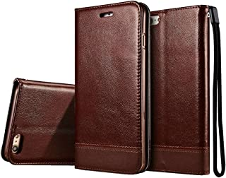 2018 Phone Covers for iPhone 8 / iPhone 7 Double-Sided Absorption Splicing Horizontal Flip Leather Case with Holder & Card Slots & Lanyard (Color : Brown)