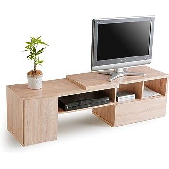 LOWYA TVボード テレビ台 TV台 ローボード 伸縮 32型 幅89.5-144cm オーク