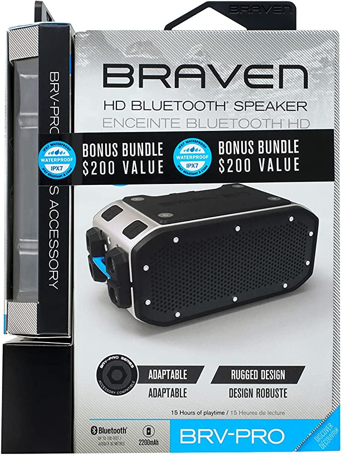 Braven BRV-Pro Portable Bluetooth Speaker and Solar Panel Bundle