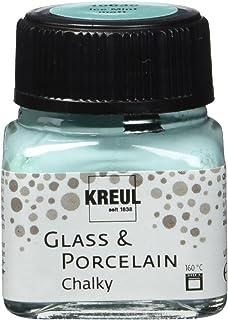 Kreul 16638 – Glass & Porcelain Chalky Ice Menthe Verre 20 ml – Peinture douce – Peinture mate pour verre et porcelaine à ...