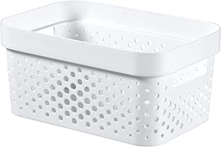 CURVER | Bac Infinity 4,5L , Blanc, 26 x 17,5 x 12,3 cm, Plastique recyclé