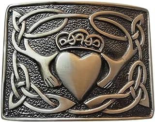 Irish Claddagh pattern Highland Kilt Belt Buckle Top Quality Finish