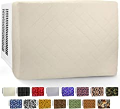 in Wall AC Front Cover (3-Layer) Decorative Air Conditioner Sleeve - Universal Indoor Window Conditioning Unit, Insulated Mount Design, 24 & 28 Inch Heavy Duty Panels for Winter House - Ivory