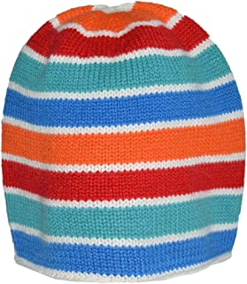 Invisible World Women's Cashmere Cap Striper Beanie