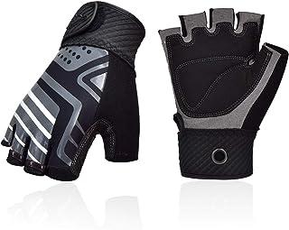 Sponsored Ad - Vgo... Men Half-Finger Breathable Climbing Gloves Outdoor Adventure Gloves with Anti-Slip Padding Palm (Gre...