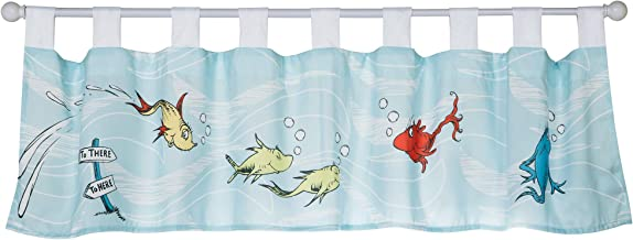Trend Lab Dr. Seuss One Fish Two Fish Window Valance Curtain