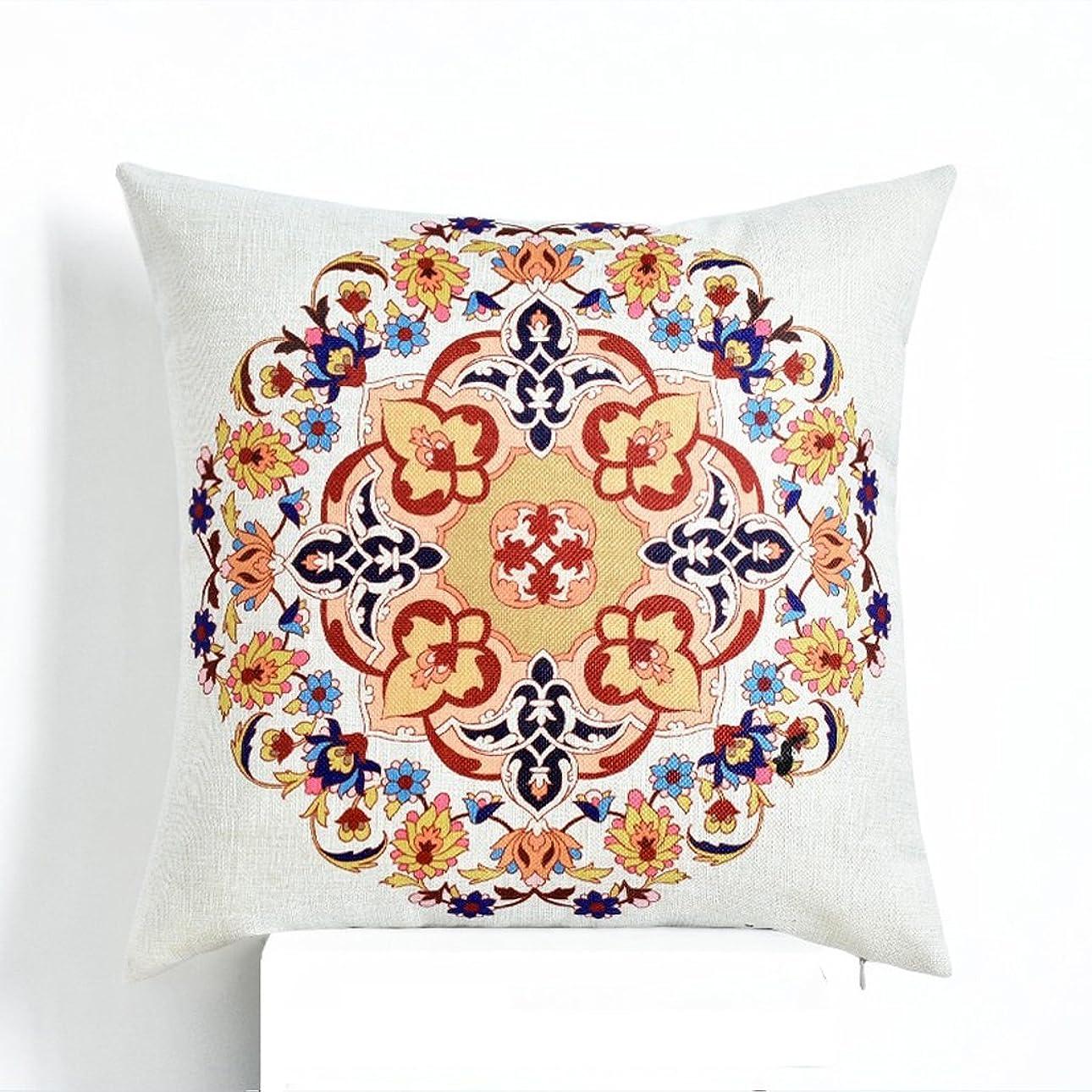 スクラップブックずるいマーケティングコットンとリネンの装飾枕、スクエアデコラティブトライアングルスロー枕カバーソファクッション18 X 18インチ (色 : 赤)