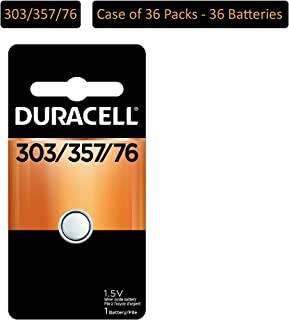 Duracell – 303/357 1.5V Silver Oxide Button Battery – Long-Lasting Battery (Pack of 36)