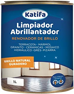 comprar comparacion Katifa Limpiador abrillantador renovador de Brillo 1L.: Ideal para Suelos de Terracota, mármol, Granito, cerámicas, Mosaic...