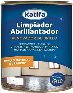 KATIFA Limpiador ABRILLANTADOR RENOVADOR DE Brillo 1L.: Ideal para Suelos de Terracota, mármol, Granito, cerámicas, Mosaico, hidráulico, gres y Pizarra.