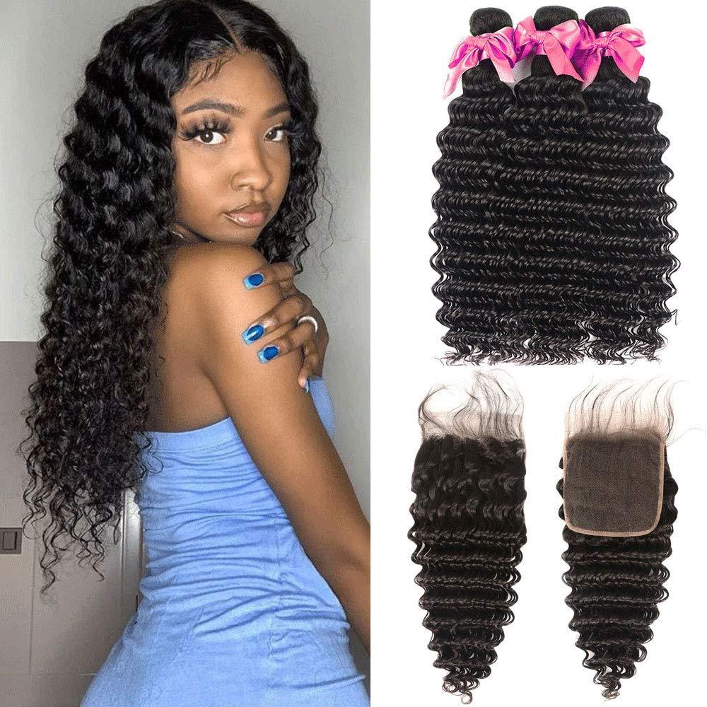 Brazlian Hair Bundles Ranking TOP17 Many popular brands Deep Wave Closure ï Part Free With