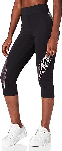 Marque Amazon - AURIQUE Legging de Sport Capri Imprimé Femme