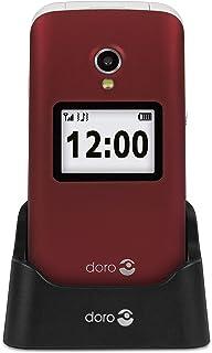 Doro Easy Phone Clamshell 7403 Telefon, Röd