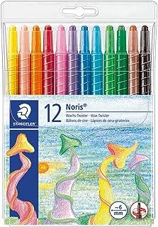Staedtler Noris Club 221 NWP12, Lápices de cera giratorios, Estuche con 12 ceras de colores surtidos
