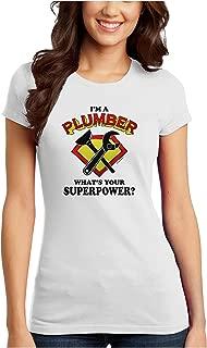 TooLoud Plumber - Superpower Juniors Petite T-Shirt