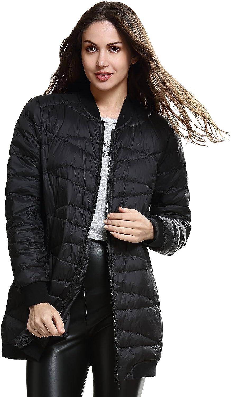 Escalier Women's Winter Ultralight Base Long Down Jacket Coat