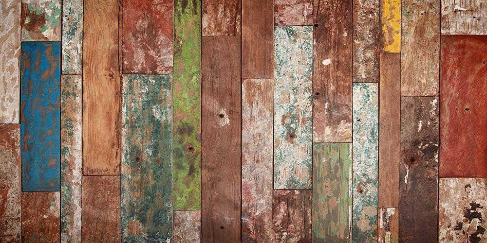 VINILIKO Industrial Wood Alfombra de Vinilo, Multicolor, 50x100