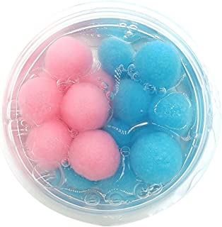 Ulanda Mixing Jelly Cube Coconut Fruit Cloud Slime Scented Stress Relief Crystal Clay Toy for Kids and Adults (Color-3)