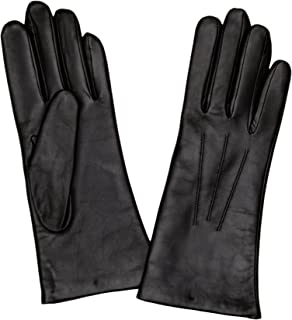 Dents Womens Isabelle Cashmere Lined Hairsheep Leather Gloves - Black