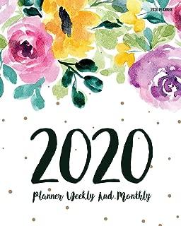 2020 Planner: Daily Weekly Monthly Calendar Planner | 12 Months Jan - Dec 2020 For Academic Agenda Schedule Organizer Logbook and Journal Notebook ... Cover (Work Hard Dream Big) (Volume 17)