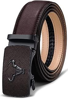 Men's Belt,Bulliant Branded Ratchet Belt Of Genuine Leather For Men Dress,Size Customized