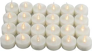 Battery Operated Flameless LED Tealight Candles Long Lasting Flickering Electric Tea Light Bulk for Halloween Pumpkin Chri...