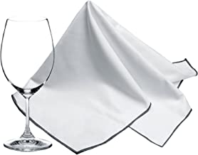 SINLAND Microfiber Glass Polishing Cloths Thick Lint -Free Drying Towels for Wine Glasses Stemware Dishes Stainless Applia...