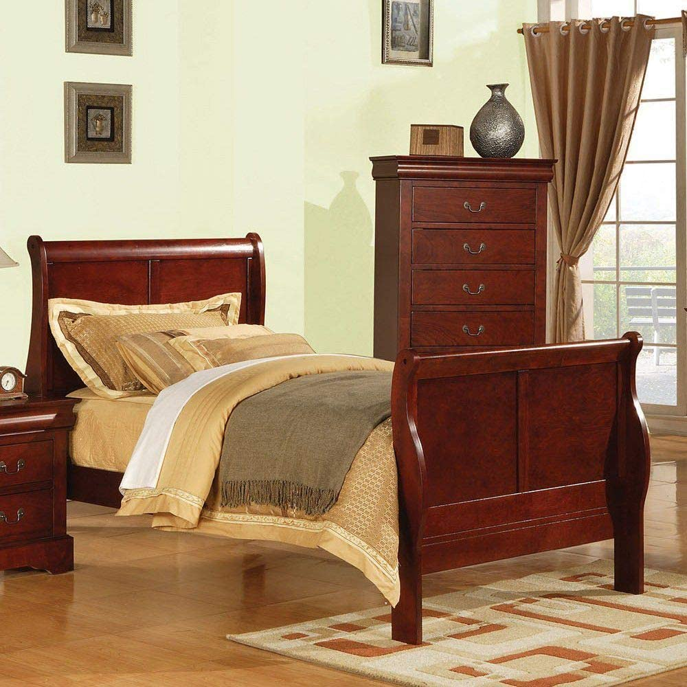TITA-DONG Louis Same day shipping Philippe III Max 68% OFF Full Bed 19528F in Cherry