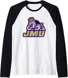 James Madison JMU Dukes NCAA PPJMU17 Raglan Baseball Tee