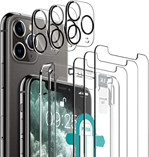 [6 Pack] LK 3 Pack Screen Protector for iPhone 11 Pro Max + 3 Pack Camera Lens Protector Anti-Scratch Easy-Installation To...