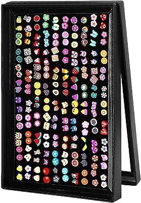Wisolt - Set di 100 paia di orecchini a perno da ragazza, ipoallergenici, a forma di cuore, colori misti, con simpatici animali, con fiori e frutti, a forma di ciambelle, con cuore, per ragazze e donne