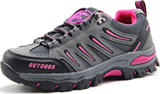 BomKinta أحذية المشي النسائية المضادة للانزلاق خفيفة الوزن جيدة التهوية سريعة الجفاف ترحلات، أحذية للنساء رمادي مقاس 10