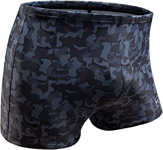 Swim Boxer Briefs Short Swim Jammer Camo Racer Mens Square Leg Swimsuit…