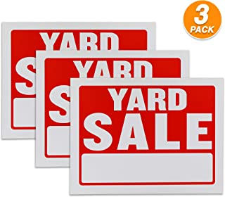 Ram Pro 9 x 12 Inches Yard Sale Sign Superior Visibility Retail Sign for Business or Personal use Perfect Advertising for Your Sale (Pack of 3)