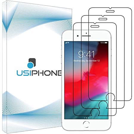 GIMTON Verre Tremp/é pour iPhone 8 // iPhone 7 sans Poussi/ère Protection en Verre Tremp/é /Écran pour iPhone 8 // iPhone 7 Duret/é 9H Film Protection /Écran Vitre 3 Pi/èces