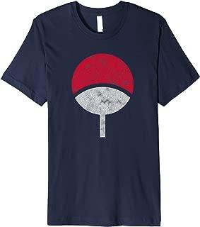 Naruto Sasuke Uchiha Symbol Distressed Premium T-Shirt