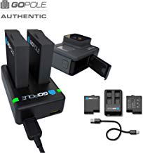 Dual Battery Kit for GoPro Hero 7/6/5 Black cameras (compatible with latest firmware updates)