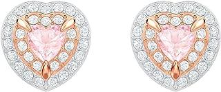 Crystal Pink Heart Stud Earrings