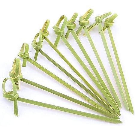 300pcs Knotting Fruit Food Picks Bamboo Cocktail Drink Picks Sticks Party Suppli
