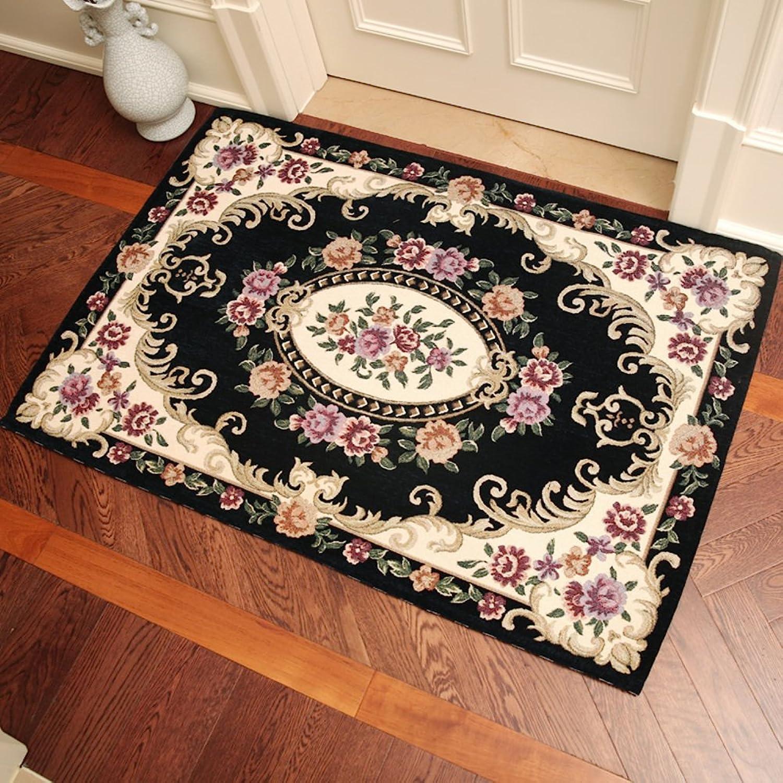 European-style door mats Doormat Door Living room [hall] Bedroom door carpet Non-slip mats-L 70x140cm(28x55inch)
