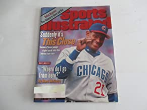 SEPTEMBER 21, 1998 SPORTS ILLUSTRATED FEATURING SAMMY SOSA OF CHICAGO CUBS *SUDDENLY IT'S THIS CLOSE -SAMMY SOSA JUMPS RIGHT BACK INTO HOME RUN RACE* *WHERE DO I GO FROM HERE?