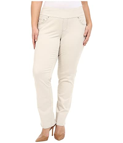 Jag Jeans Plus Size Peri Pull-On Straight Leg Pants in Bay Twill (Stone) Women