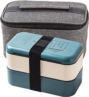 FEIGAO Lunch Box,PP De Qualité Alimentaire Boite Repas Compartiment,avec Sac Isolant,Rangement Et Organisation De Cuisine(...